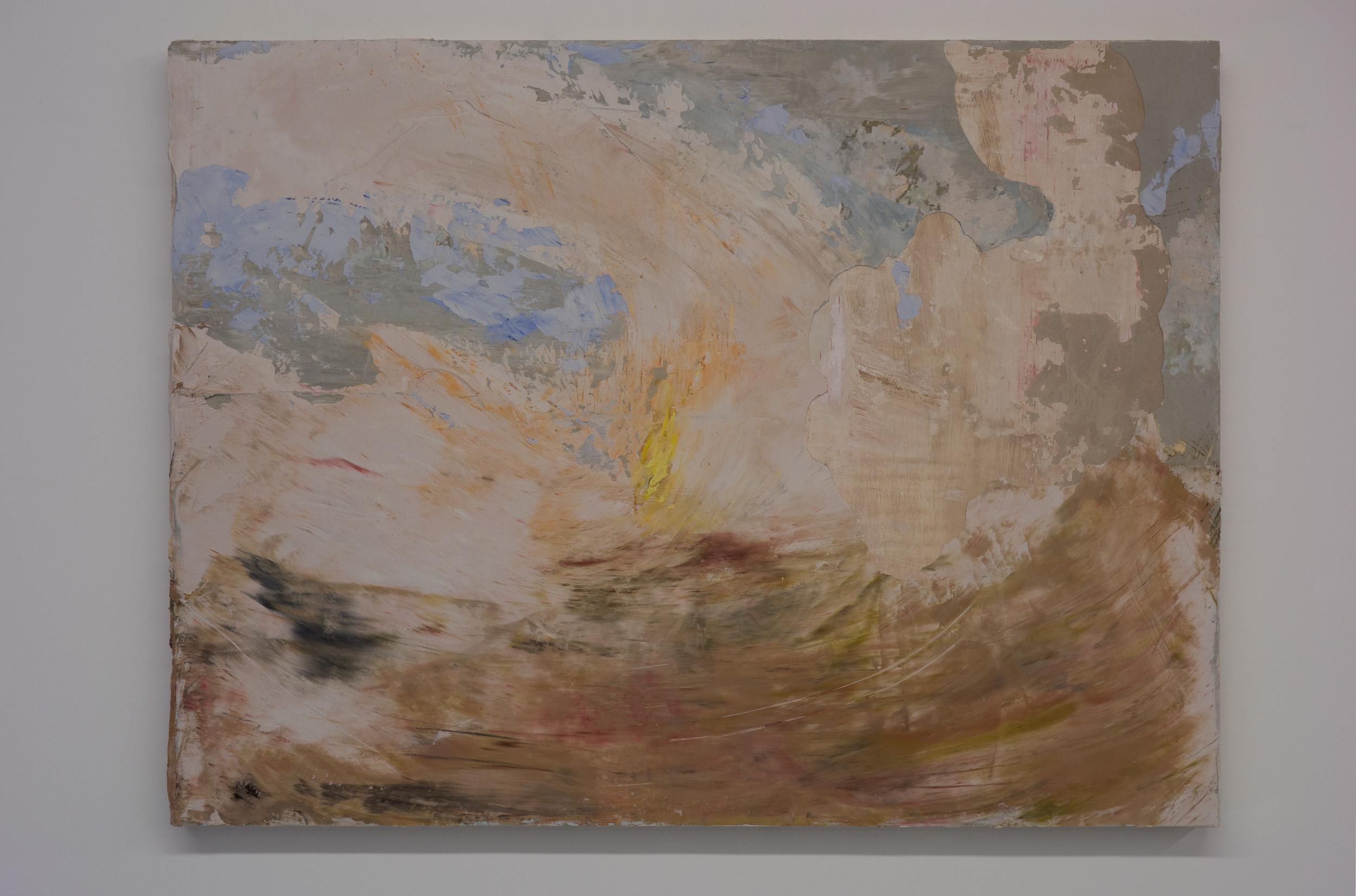 Shelley Vanderbyl - Signal Fire (Day) - 2016 - Fresco on Panel - 30x40.jpg
