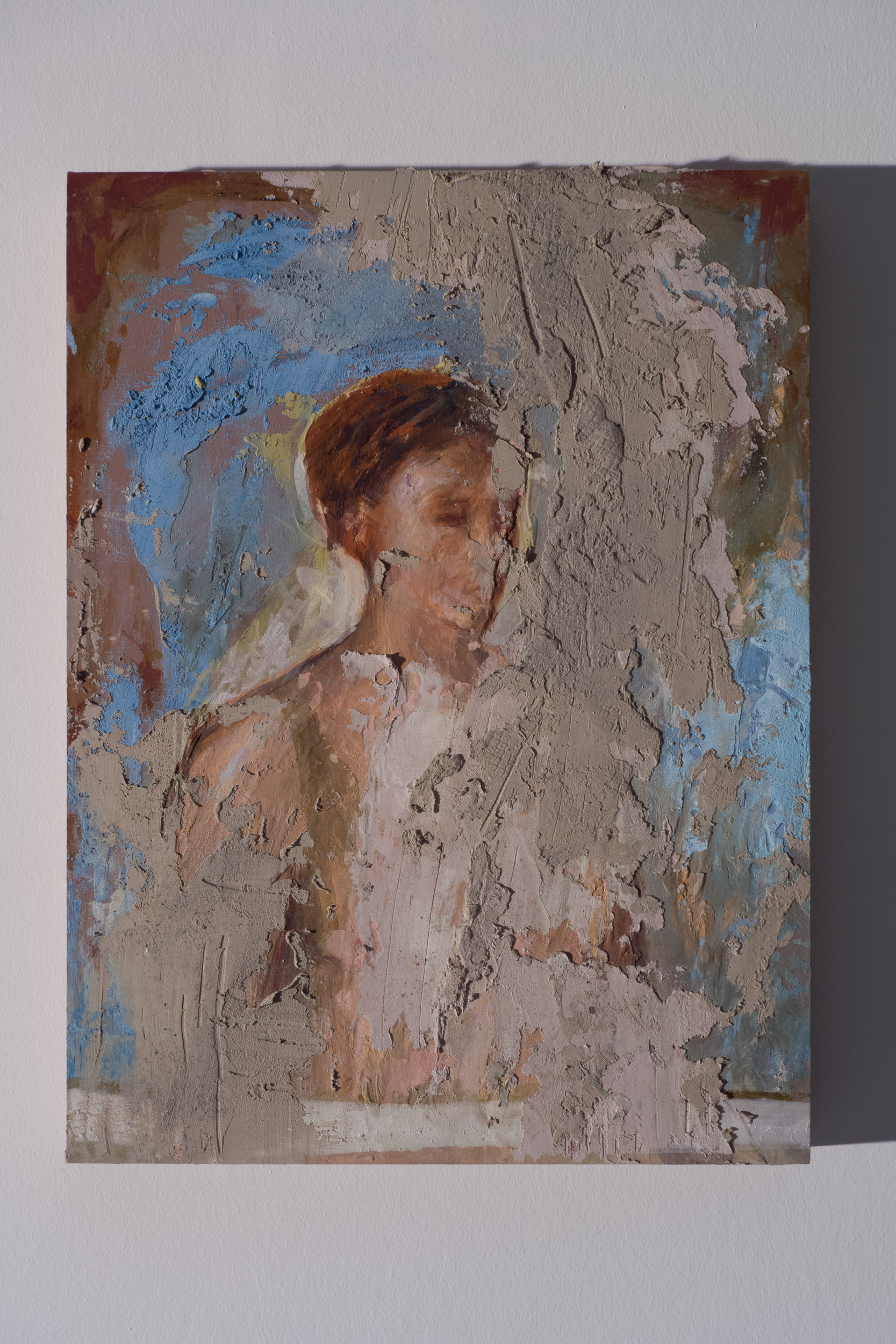 Shelley Vanderbyl - Untitled (Woman) (Side Light) - 2016 - Fresco on Panel - 8x10.jpg