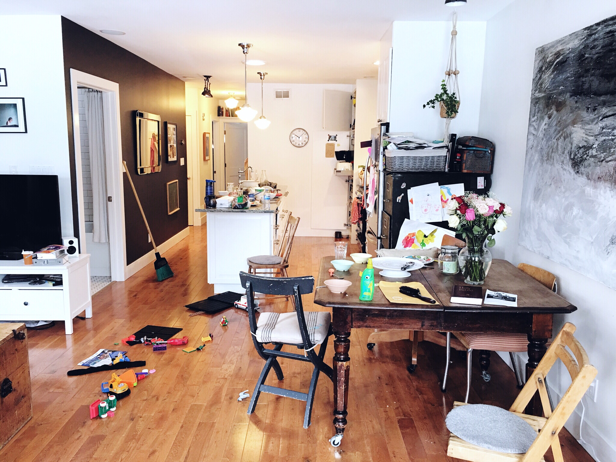 Our house, an average morning's mess.