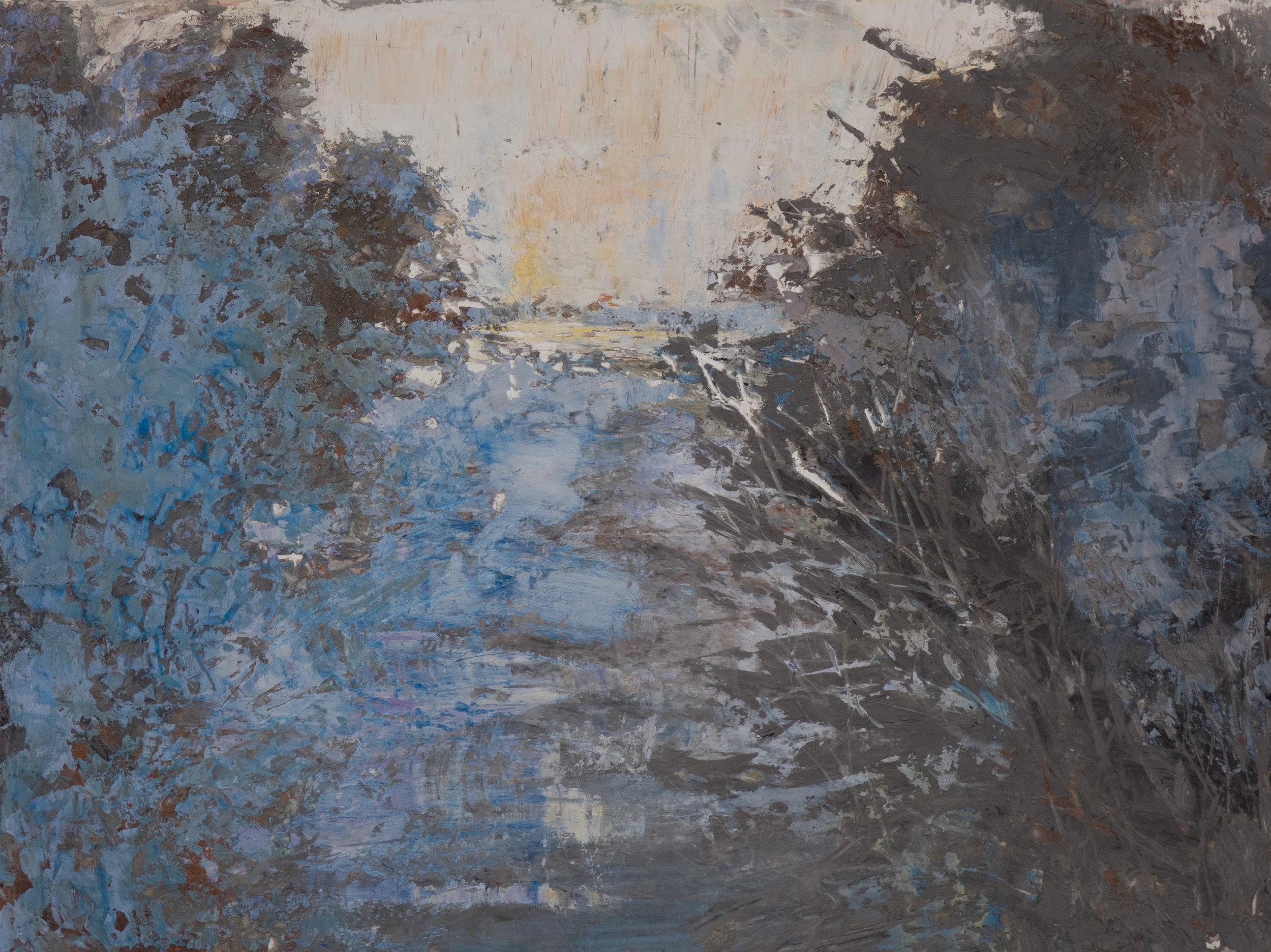 Shelley Vanderbyl - Breaking Branches (Full Crop) - 2016 - Fresco on Panel - 30x40.jpg