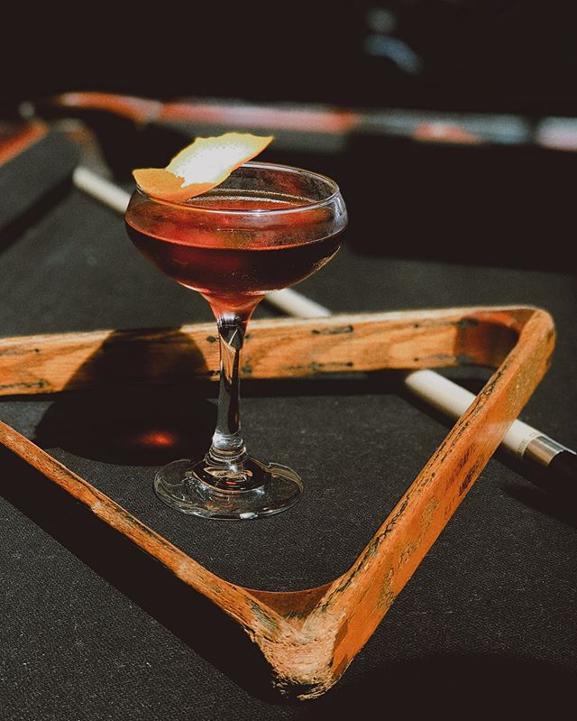 cocktail of the week | Charlie's Angels | rye + campari + cynar + a few dashes of walnut bitters and a whole lot of sex appeal