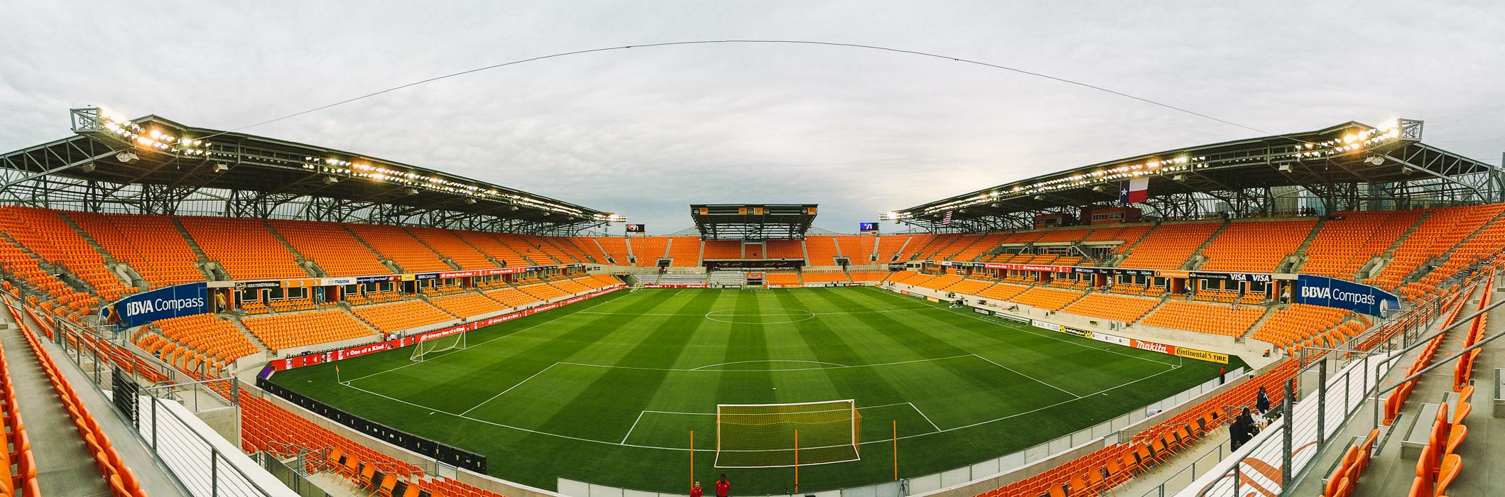 BBVA Compass Stadium - April 5, 2014 // iPhone 5S Panorama
