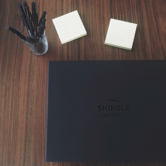 CEO and Founder Sonja Rasula gave each staff membera customized, leathernotepad cover from one of her favorite brands - Shinola!