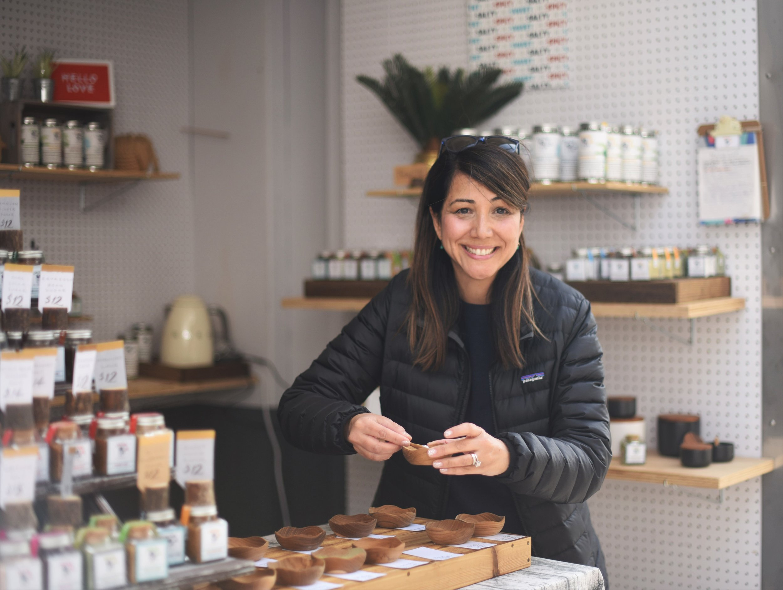Old Salt Merchants - (@oldsaltmerchants)Have you ever heard of Matcha Tea Salt? Probably not. The first time they sold with us was in December 2018 in Austin, Texas. According to Monique Rodriguez, it was her first show ever and she almost ran out of everything. Her saving grace: her best friend Lina! Even with uncomfortable shoes and no knowledge of how to sell products, she winged it like a pro! There's no doubt that this is a special company that sells one-of-a-kind high quality salts, sugars, teas, and spices.
