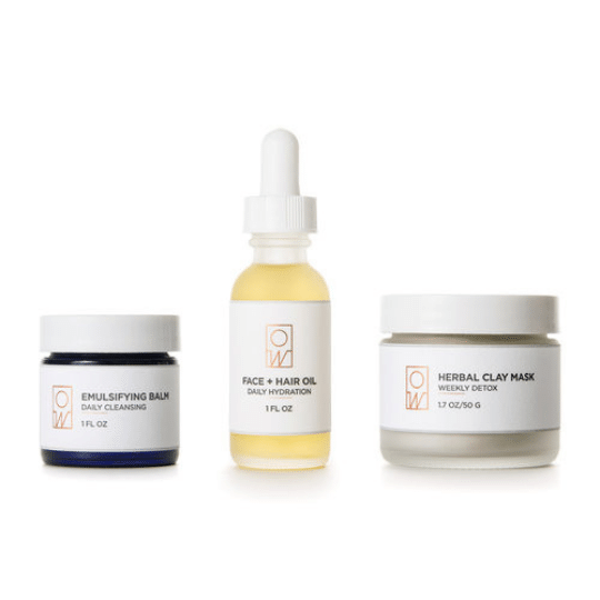 Facial Care Set ($122) - Oil + Water is a natural approach to skincare that is made in small batches out of owner, Erika Martins studio. Not only are these products made in small batches, the brand sources raw materials and uses environmentally friendly packaging!