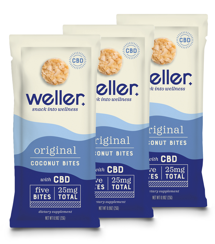 CBD Coconut Bites ($15-$50) - Weller is a wellness company dedicated to changing the way we think about snacking to enhance our minds, bodies, and overall wellness. With each serving containing 5 coconut bites and a total of 245 mg broad spectrum CBD, they're easy to take on the go!