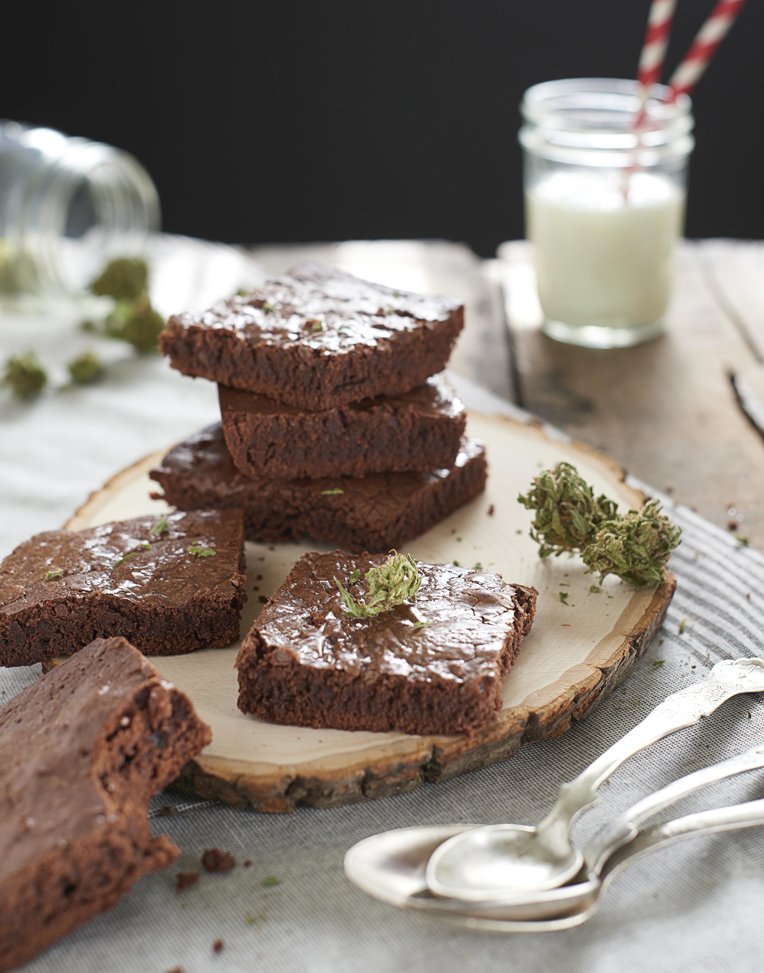 Edibles Chocolate Brownies Marijuana