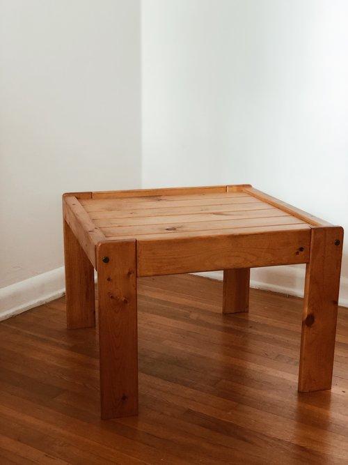 Pine Coffee Table Counter E