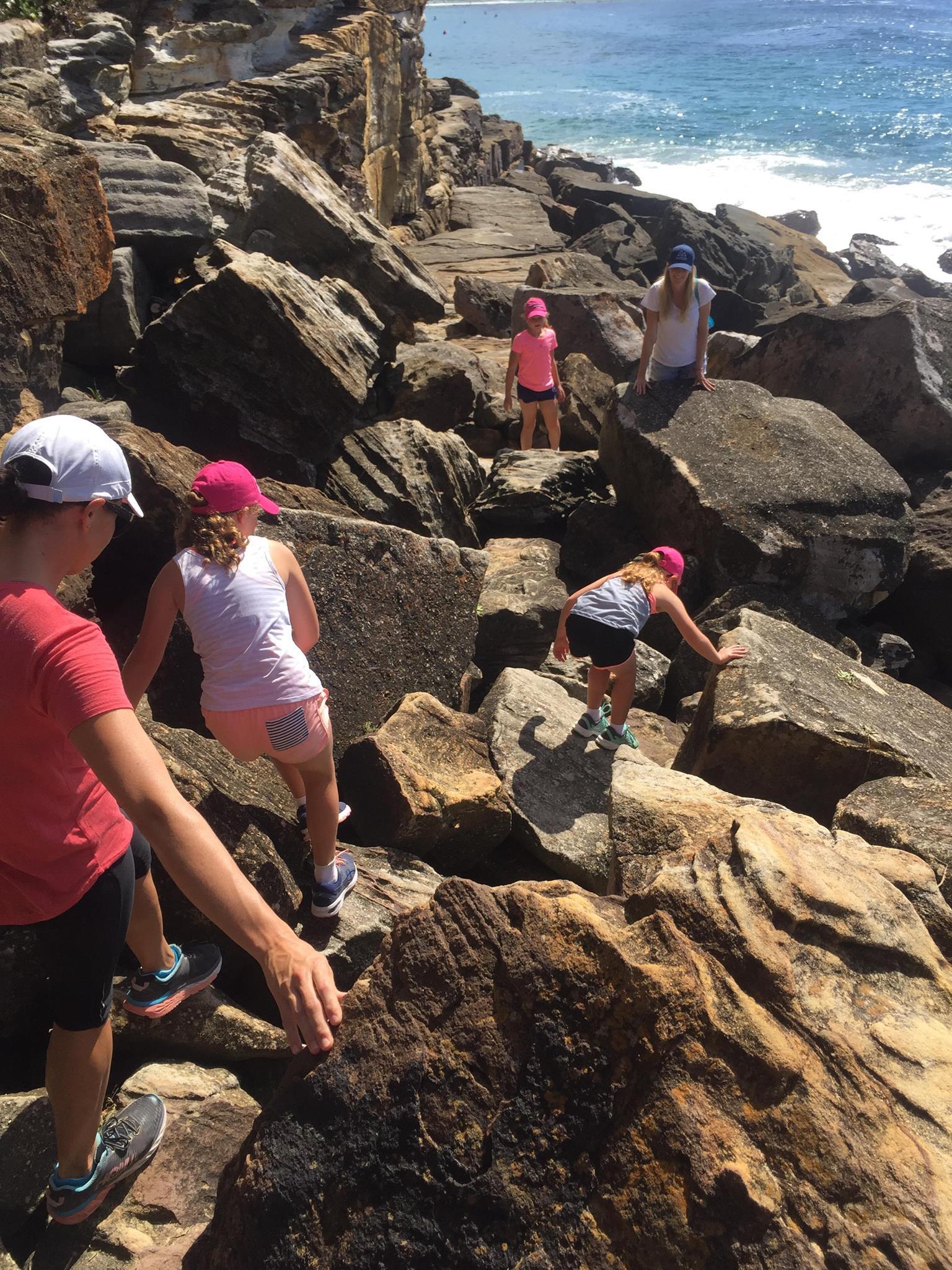 MissAdventure Rock Scrambling by the beach