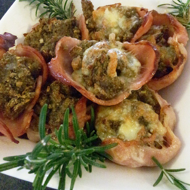Bacon Stuffing Pods: How They Look Once Cooked! Yummo!