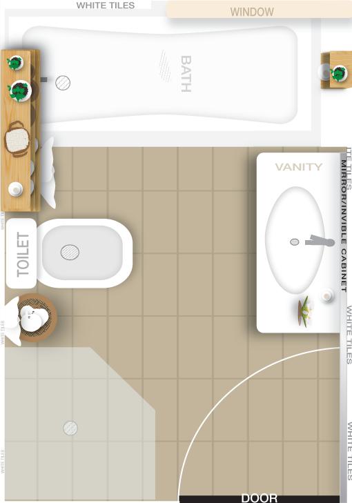 Bathroom Layout Design created in Illustrator