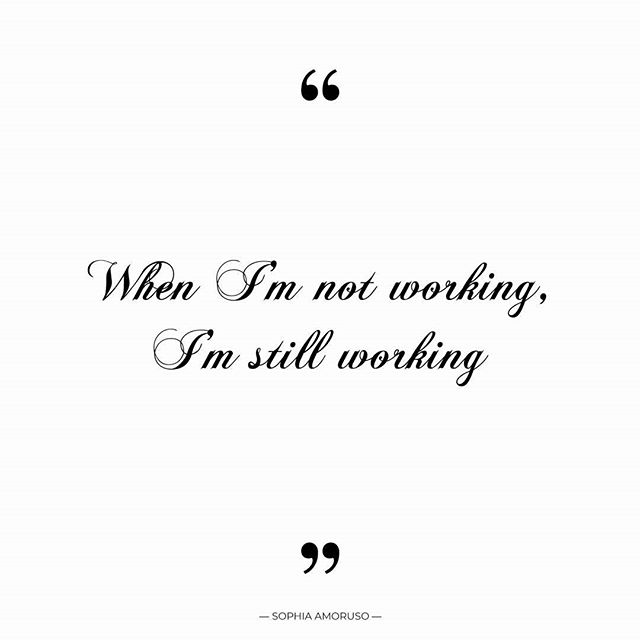 "#Quote ""When I'm not working, I'm still working."" - Sophia Amoruso . When I don't have any design work coming through @heatherjamescomau I'm working on business development, improving my website options, updating my accounts, looking at my marketing channels and seeing what I can do better. When I'm not working, I'm thinking about what I need to do and when, and how I am going to do it. I'm designing imaginery brands in my head and how I can best be of service to my clients, especially while I am managing stress, anxiety, chronic fatigue and being a single parent facing 6 weeks with kids at home but still having to work! :( is what it is, not complaining, just stating the facts. I am grateful no matter what. x Hbomb"