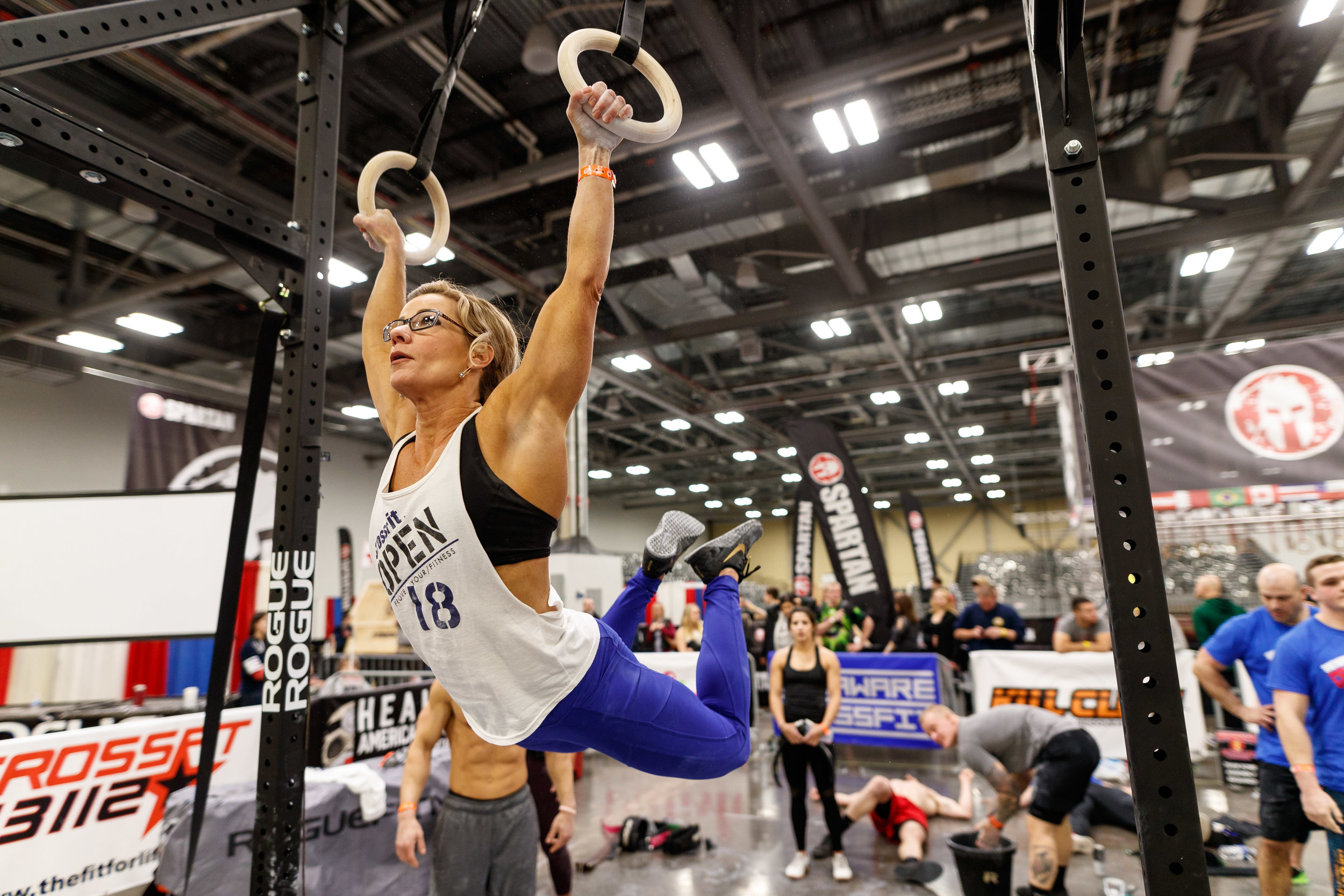 Shawnda Ruffner - finished 243rd in the WORLD in her age division of 40-44 and 19th in the Central East Region in her age division (354th in the individual rankings). Impressive for Shawnda's first real go at the CrossFit Open. Big things to come from her next year as she looks to qualify in the top 200 worldwide.