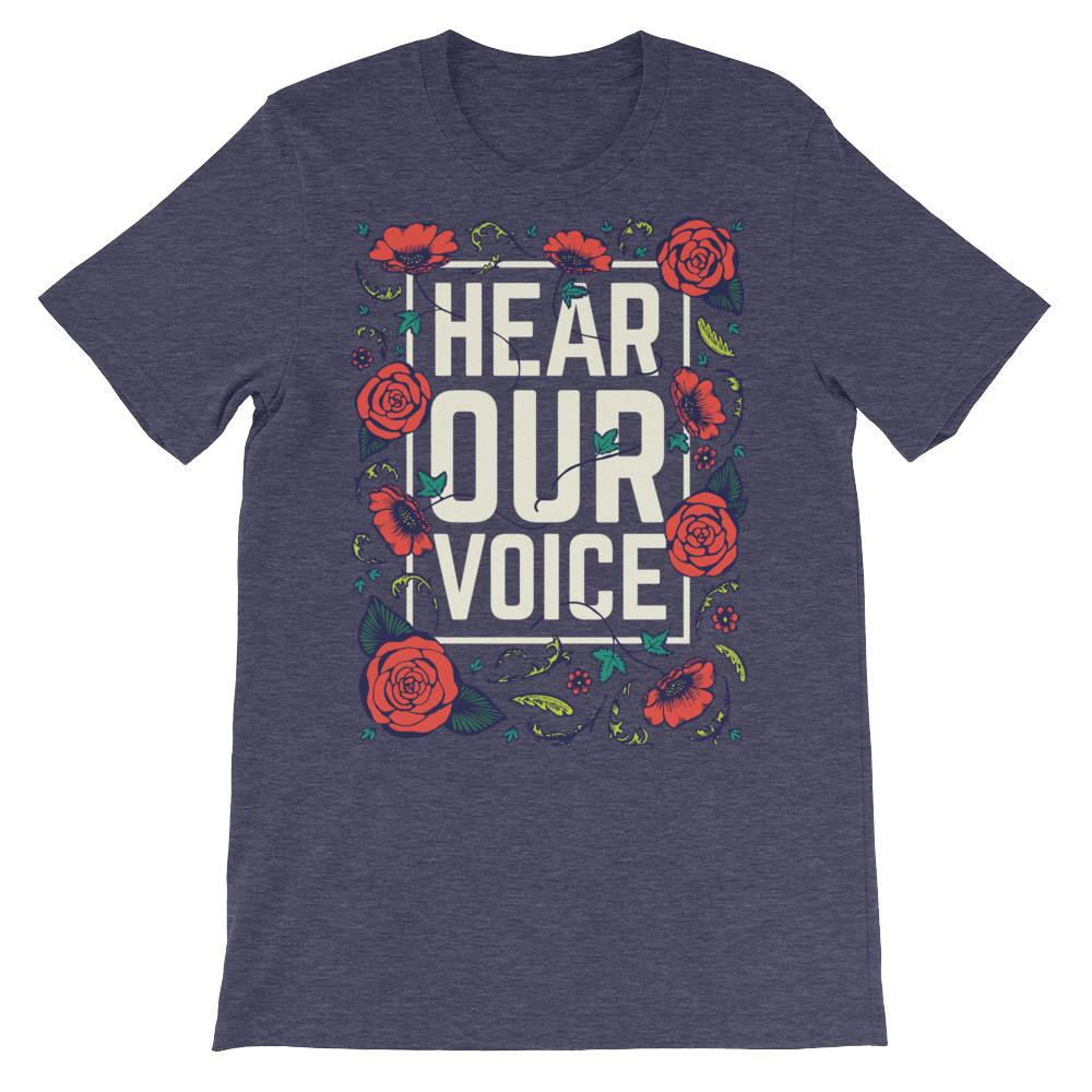 hear-our-voice-unisex-tee-mock.jpg