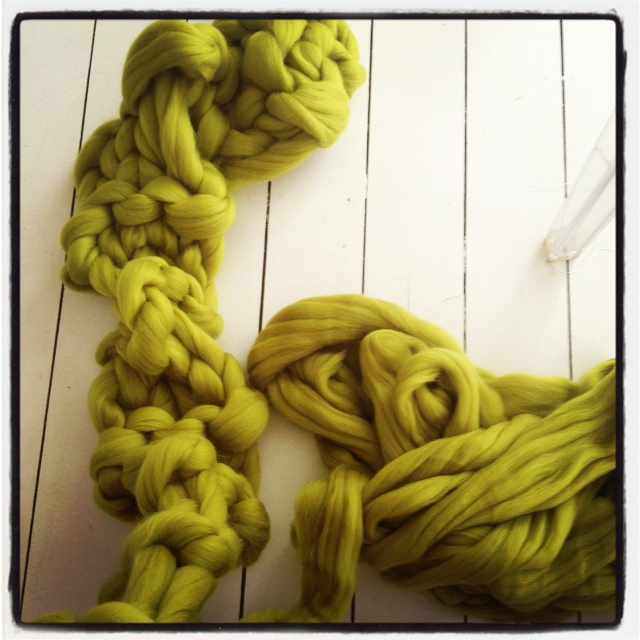 Green Scarf on the make