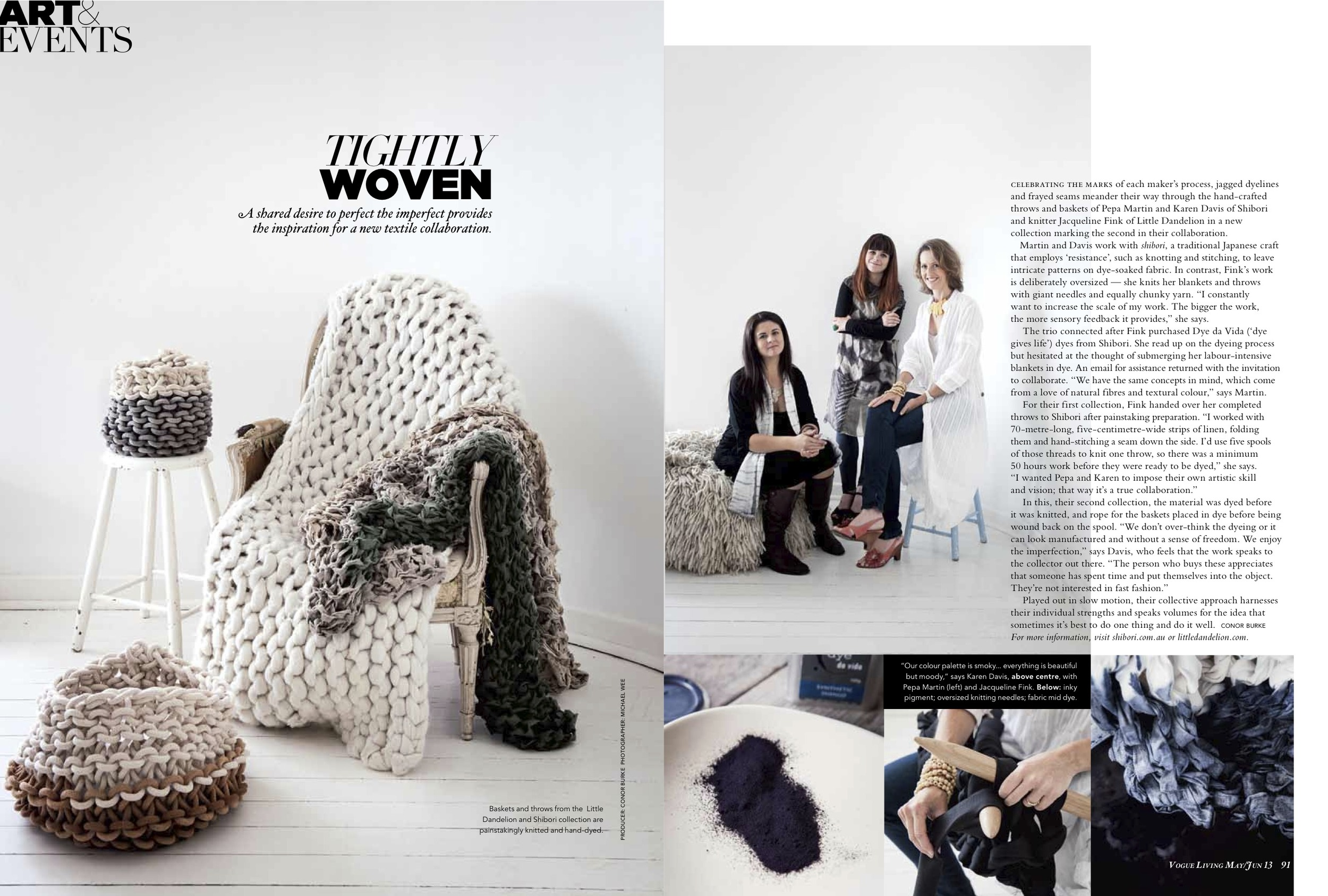 Vogue Living Magazine June 2013 - Tightly Woven