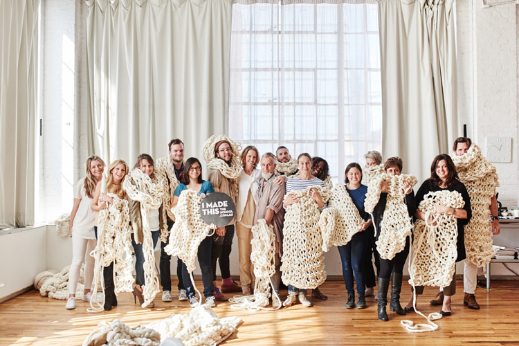 Image by  Brooke Holm  for The School. Extreme Knitting. Class of New York 2015.