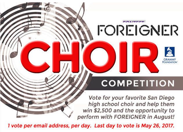 HELP US WIN!  - Madrigals have entered the Foreigner High School Choir Competition. Please help us win by voting. You can cast a vote once per day per email address. Click on the image to the left to be taken to the competition page, then scroll through to find RBHS and click VOTE. We can't thank you enough for your support! Please share this with your friends and family too!