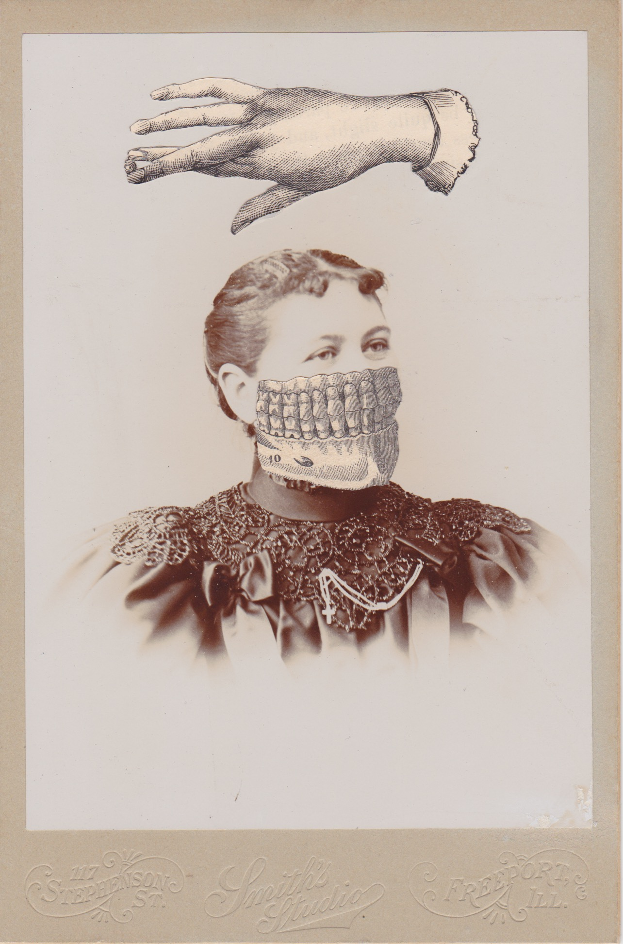 Mysterian No. 89404, collage on 19th century cabinet card
