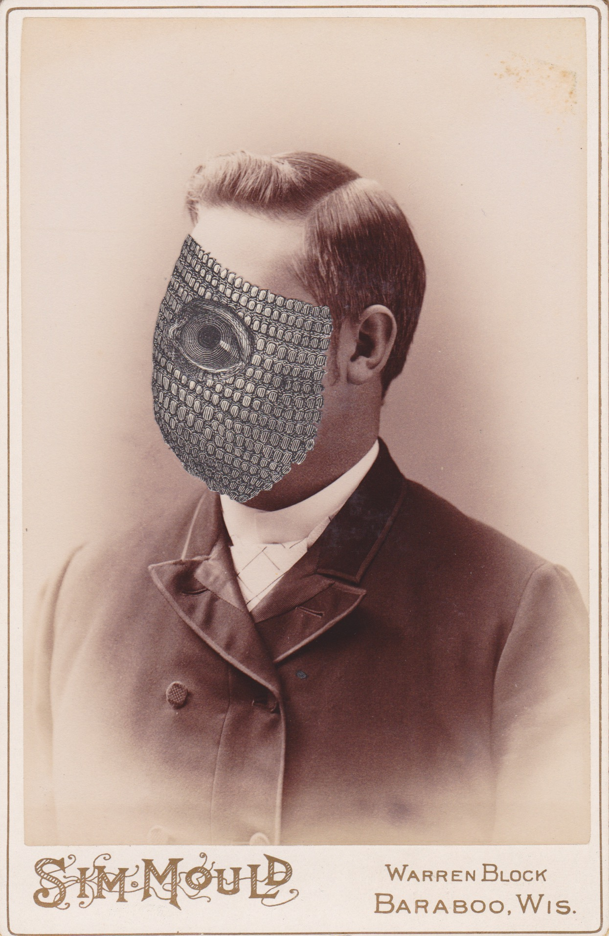 Mysterian No. 09875,  collage on 19th century cabinet card