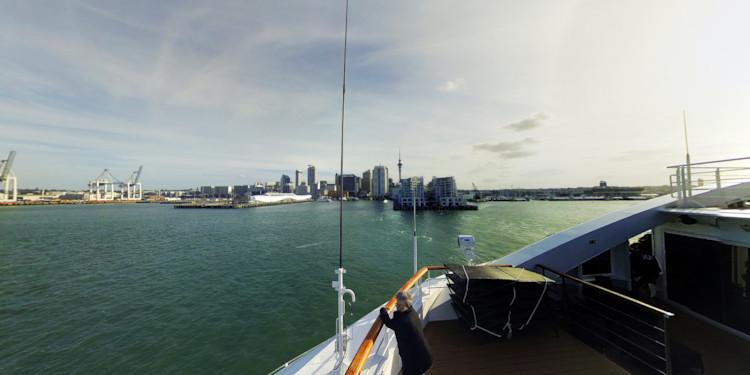 Departing Auckland