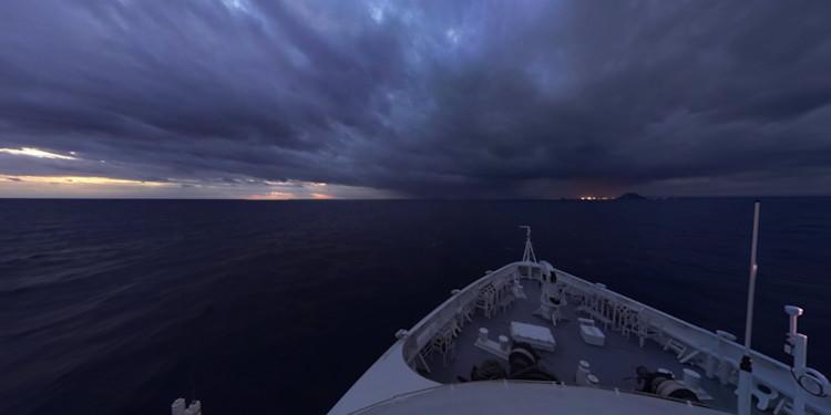 Approaching Tauranga at Sunrise