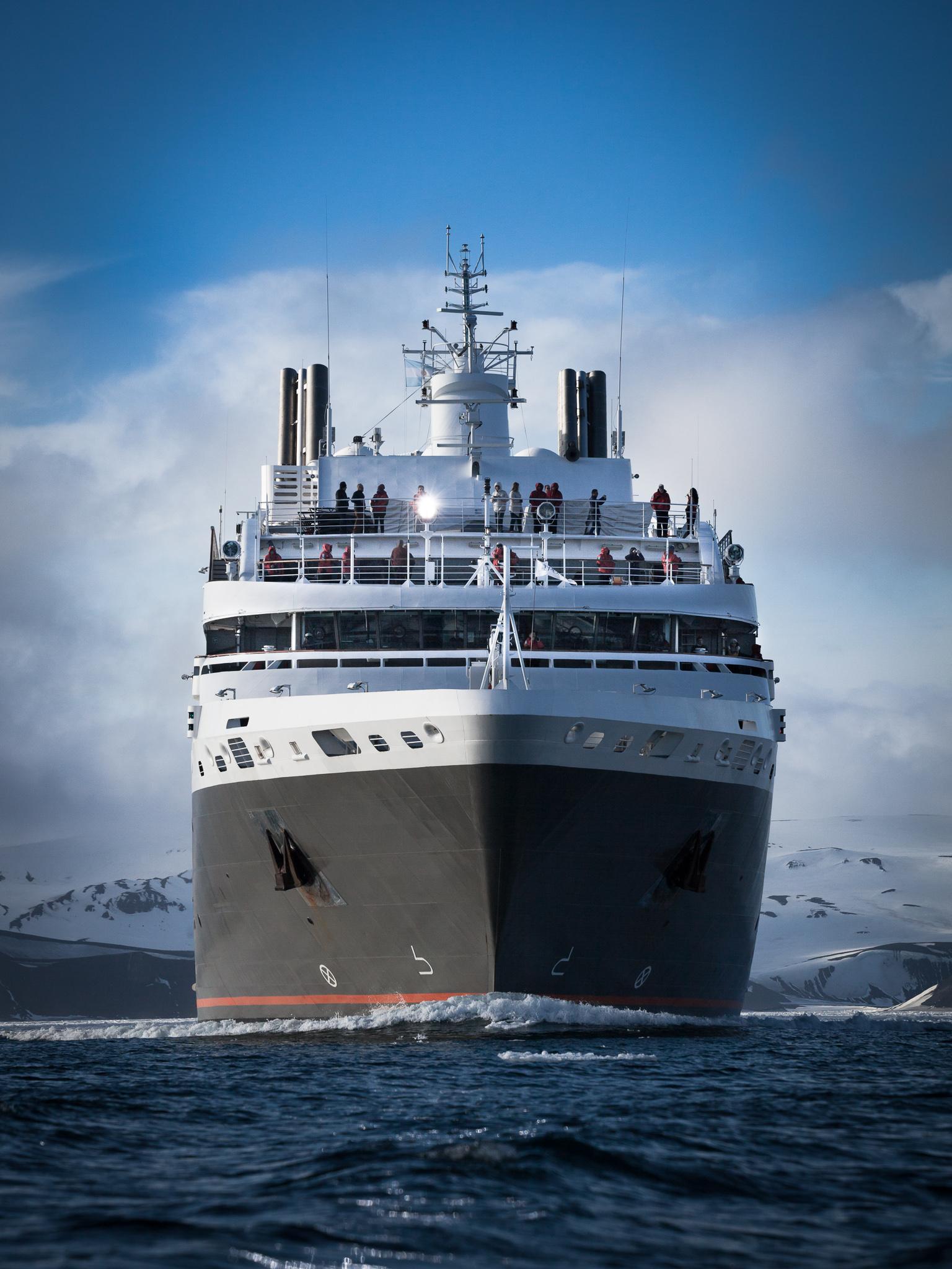 Departing Deception Island -   Kelly Redhead