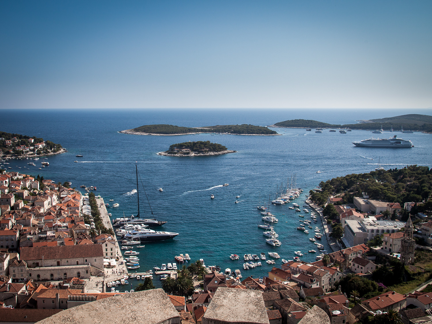 Le Lyrial and harbour from Hvar Fortress