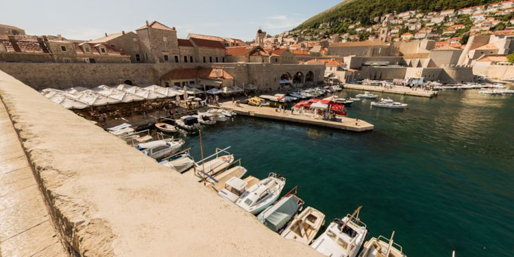 Overlooking the Tender from the Dubrovnik Wall