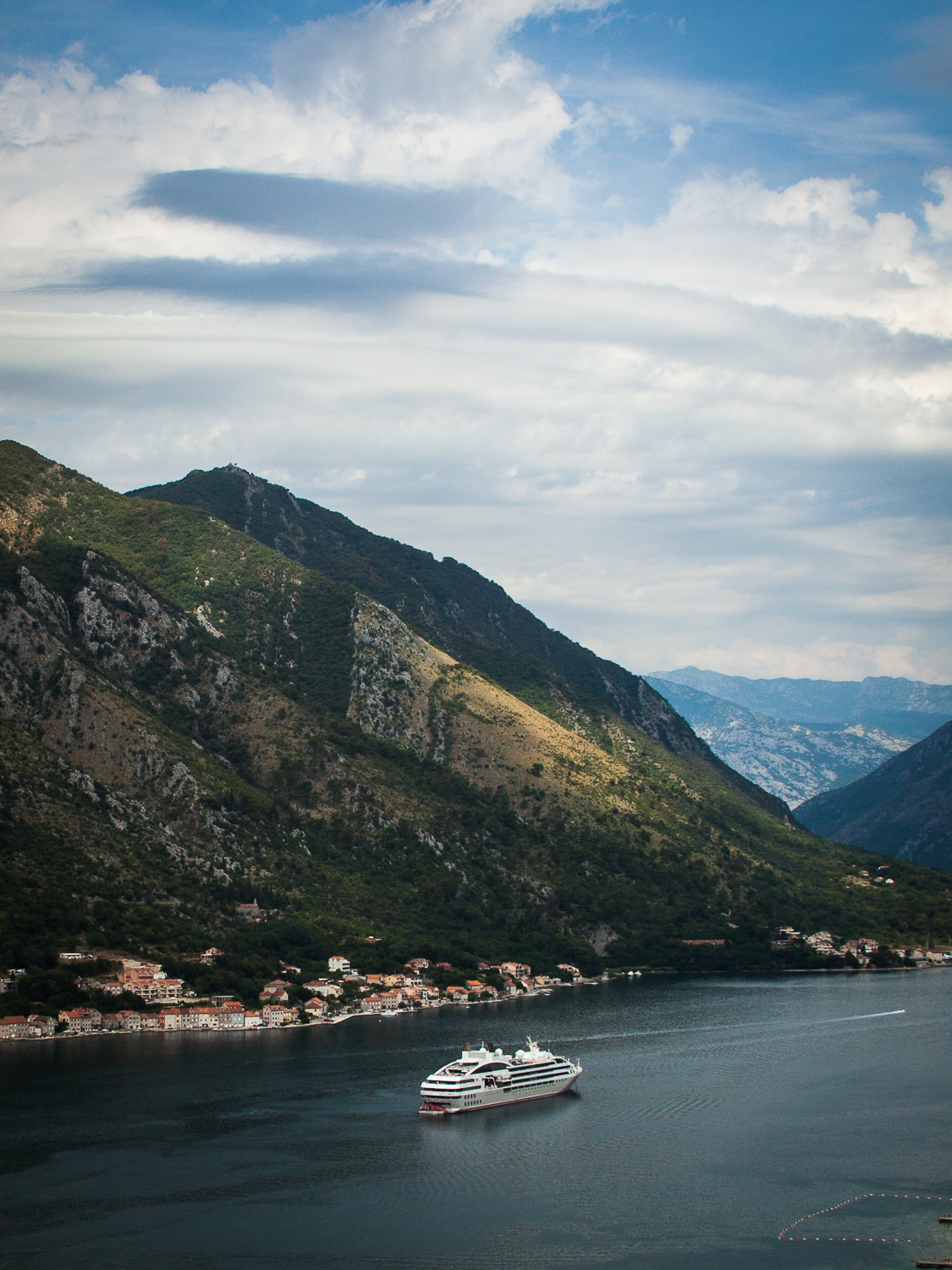 Surrounded by the mountains of Kotor