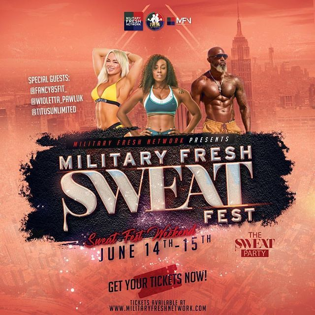 ATTENTION ALL:🚨🚨 It's gonna be worth the trip‼️💪👌Mark your calendars 📆 and book your travel. ✈️ ALL EVENTS ARE IN HARLEM, NYC 🗽🍎 - Get your tickets now for the 2019 MILITARY FRESH SWEAT FEST WEEKEND‼️ - this is the 10th year anniversary and we've  partnered with the @militaryfreshfitness and many more to host an extraordinary 2- day event filled with NETWORKING, FITNESS & FUN for our Military Members, Veterans , military Spousesto include those who support the military community. 💪🇺🇸 - - CONFIRMED SPECIAL GUESTS: @fancy85fit_  @wioletta_pawluk  @titusunlimited - - - We've secured a beautiful hotel with discounted group rates for all attendees. - - WHAT DOES THE MILITARY FRESH SWEAT FEST. 💦 💪WEEKEND CONSIST OF❓ - - FRIDAY NIGHT: JUNE 14TH - 8:00pm -12:00pm - Military Fresh Networking Event - Meet & Greet. - - SATURDAY MORNING: JUNE 15th - 9:00AM - 2:00PM - Military Fresh Sweat Fest 💦 A LINE UP OF DIFFERENT TRAINERS 💪 - - SPONSOR & VENDOR  OPPORTUNITIES AVAILABLE - - SATURDAY NIGHT:  JUNE 15th- 9:00PM - UNTIL Military Fresh Gala 💃🏽 🕺🏻 DRESS TO IMPRESS - - TICKETS 🎫 ON SALE NOW‼️ CLICK GET TICKETS IN @militaryfreshnetwork BIO. - - #armyfresh #militaryfreshnetwork #navyfresh #semperfresh #airforcefresh #thesweatparty #fitness #fitnessevent #healthiswealth #marketing #marketing101 #veteranowned #veteran #military #militaryfitness #bootcamp #yoga #zumba #stretching #harlem #nyc #newyork #sponsorshipopportunity #armyfreshfitness #militaryfreshfitness #fitnessevent #mfngroup #networkingevent #militaryfresh #military