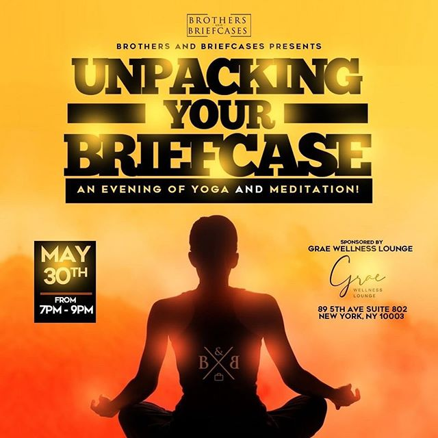 Join us today for classes with @yogi.yana @angelxceara and @tajharris with a special event this evening with @brothersandbriefcases . . . @balance.with.day will be leading a donation based yoga and meditation class tonight from 7pm to 9pm in honor of #mentalhealthawareness in collaboration with @brothersandbriefcases Join us!!!