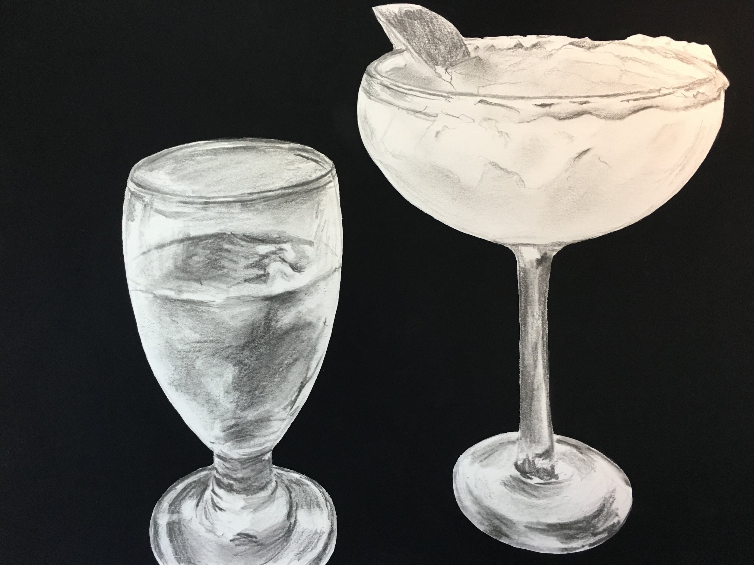 """Pictured here: Antonio's , 10"""" x 8"""", pencil and gouache on paper. More small-scale paintings available for purchase  here."""