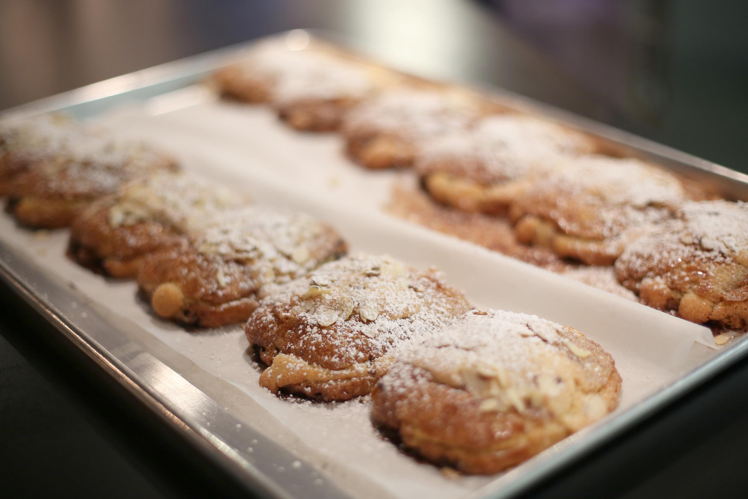 twice baked chocolate almond croissants
