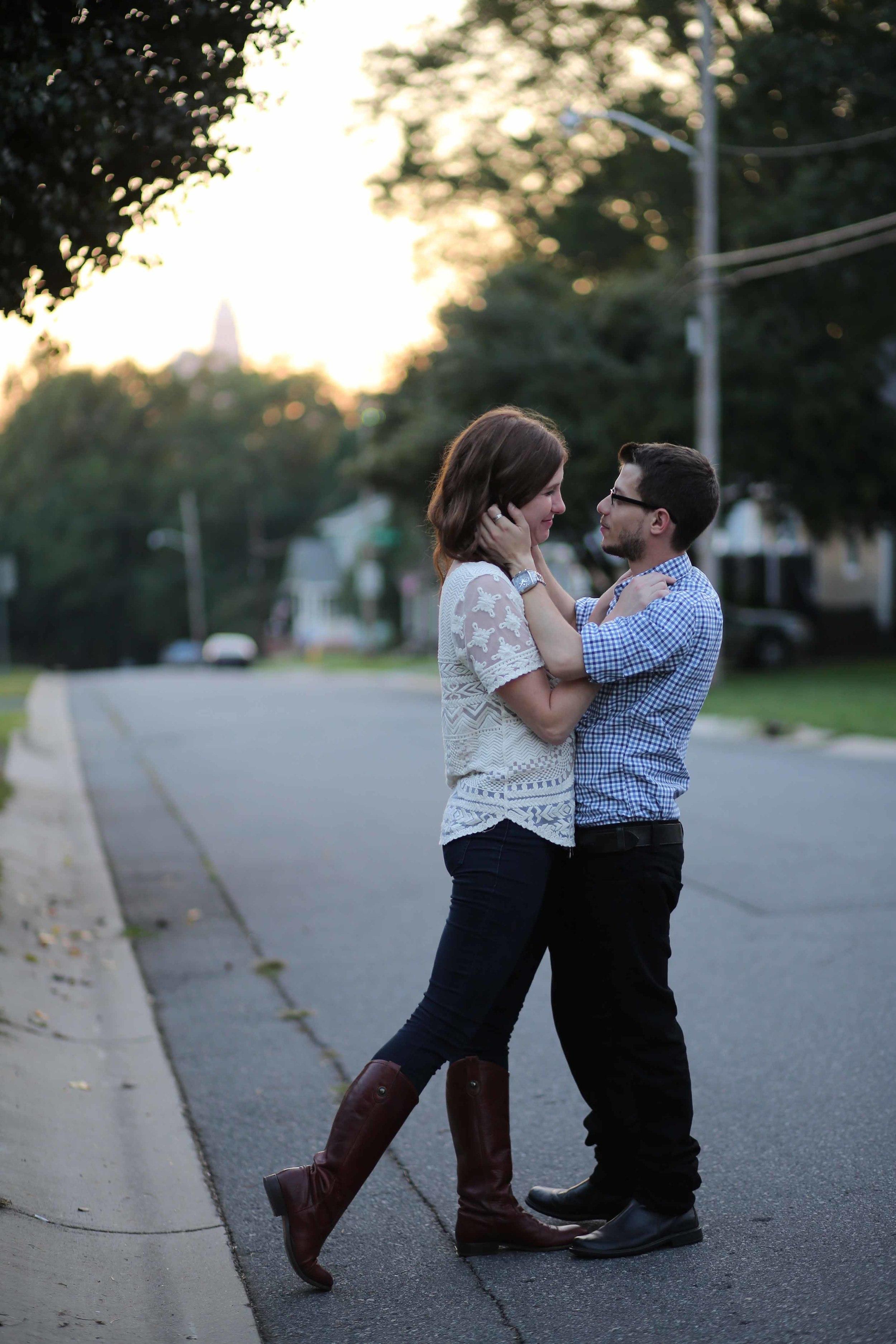 Street Scene. Charlotte NC NoDa Yadkin Ave. Engagement Photography