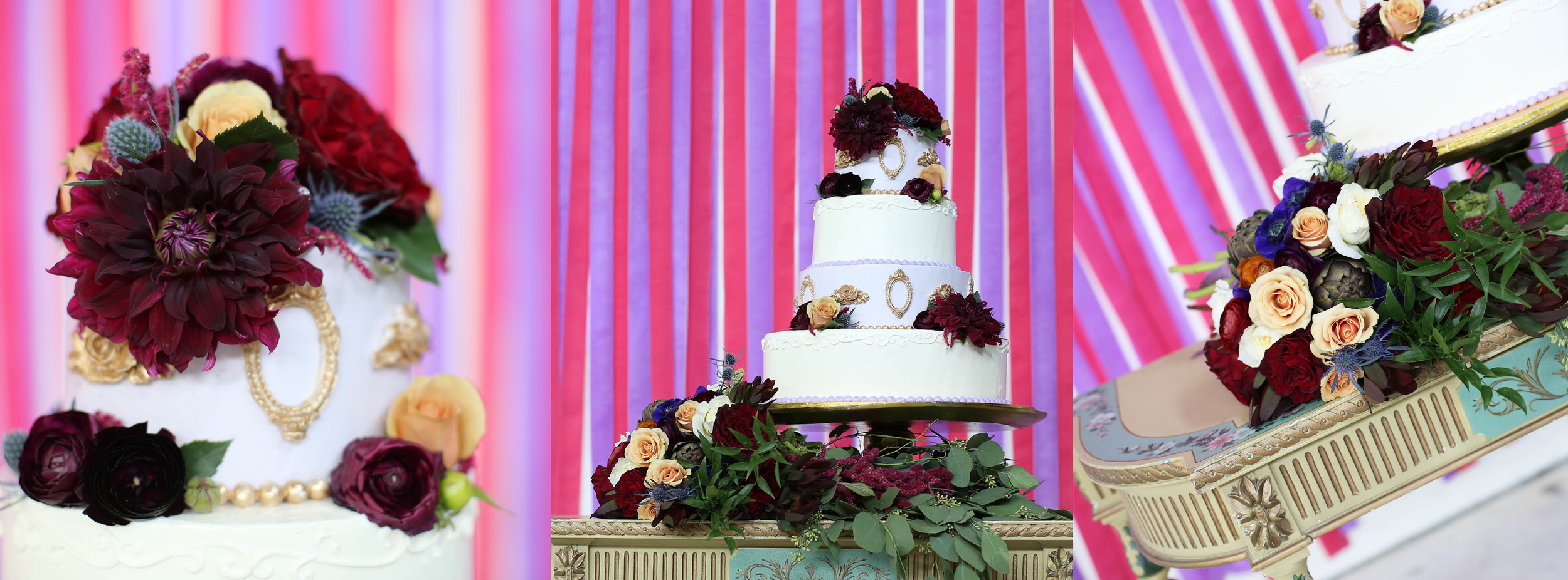 Thank you Alexa from Amélie's for such a gorgeous cake---and Julie for the fleurs!