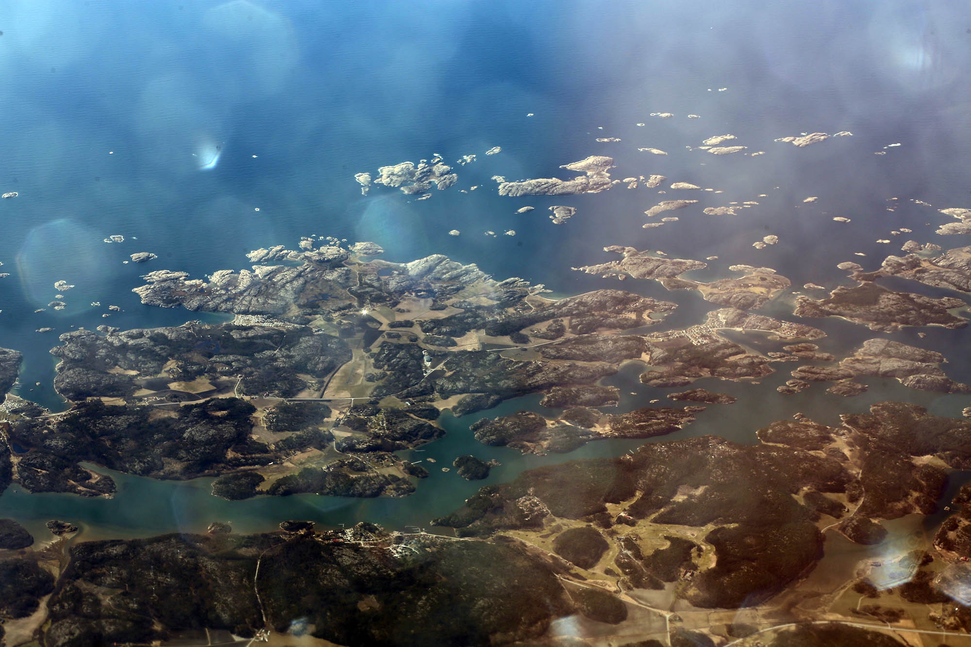 A view of the fjords from above