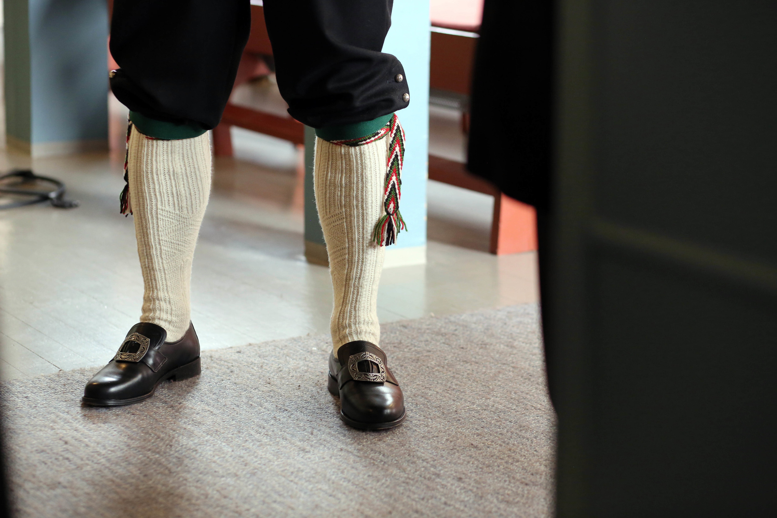 "I left the Salon early to meet Oscar at the Church. I absolutely adored his ""bunad"" or traditional Norwegian folk wear."