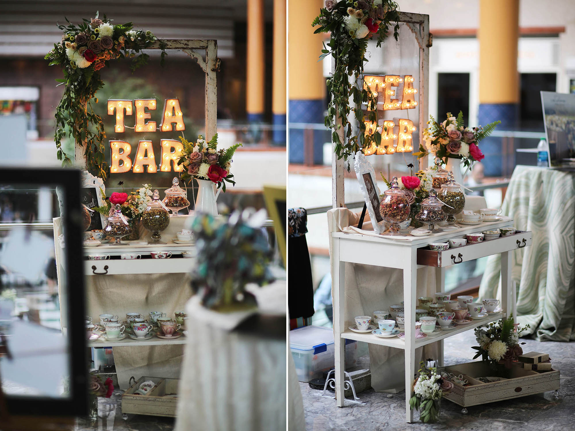a tea bar by  the Whimsical Rose  - YUMM!