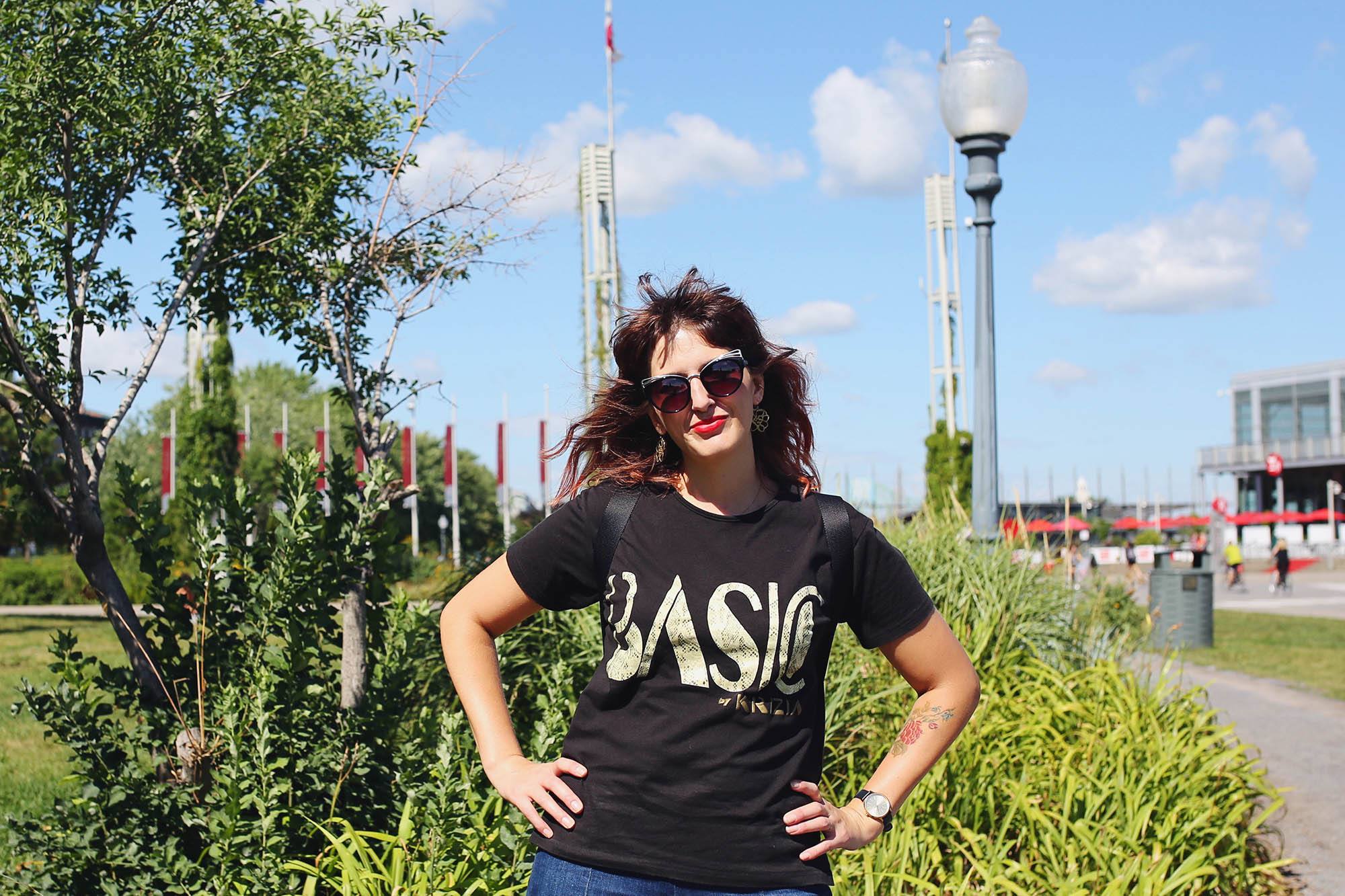 here I am. Basic American. (vintage tee from  Krizia )