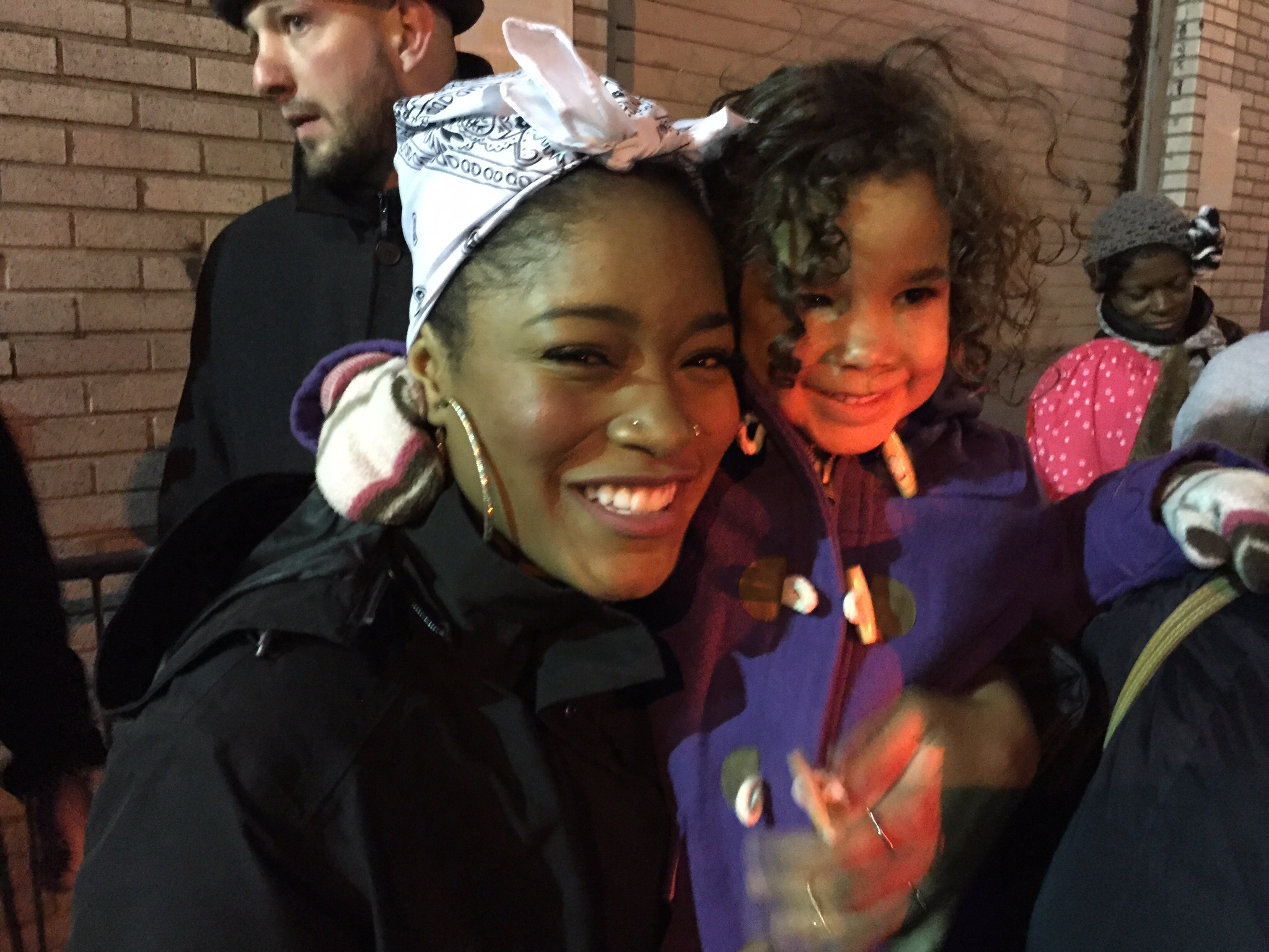 My daughter with Cinderella star, Keke Palmer.