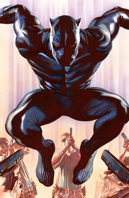 Coates tweeted this Alex Ross cover from the new Black Panther series.