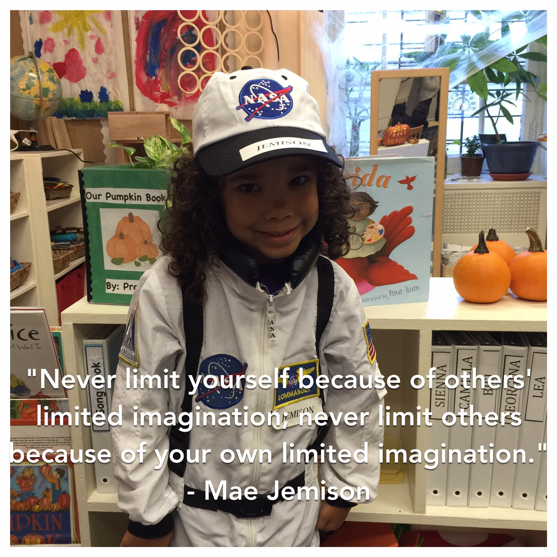 Our first Inspiration, Mae Jemison, was the first African-American woman in space!