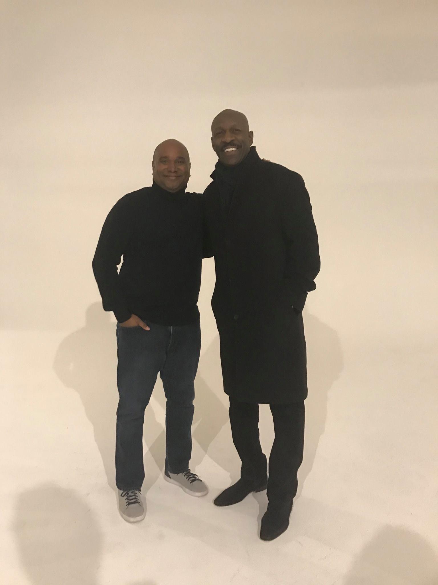 Coach & I at the photo shoot last December