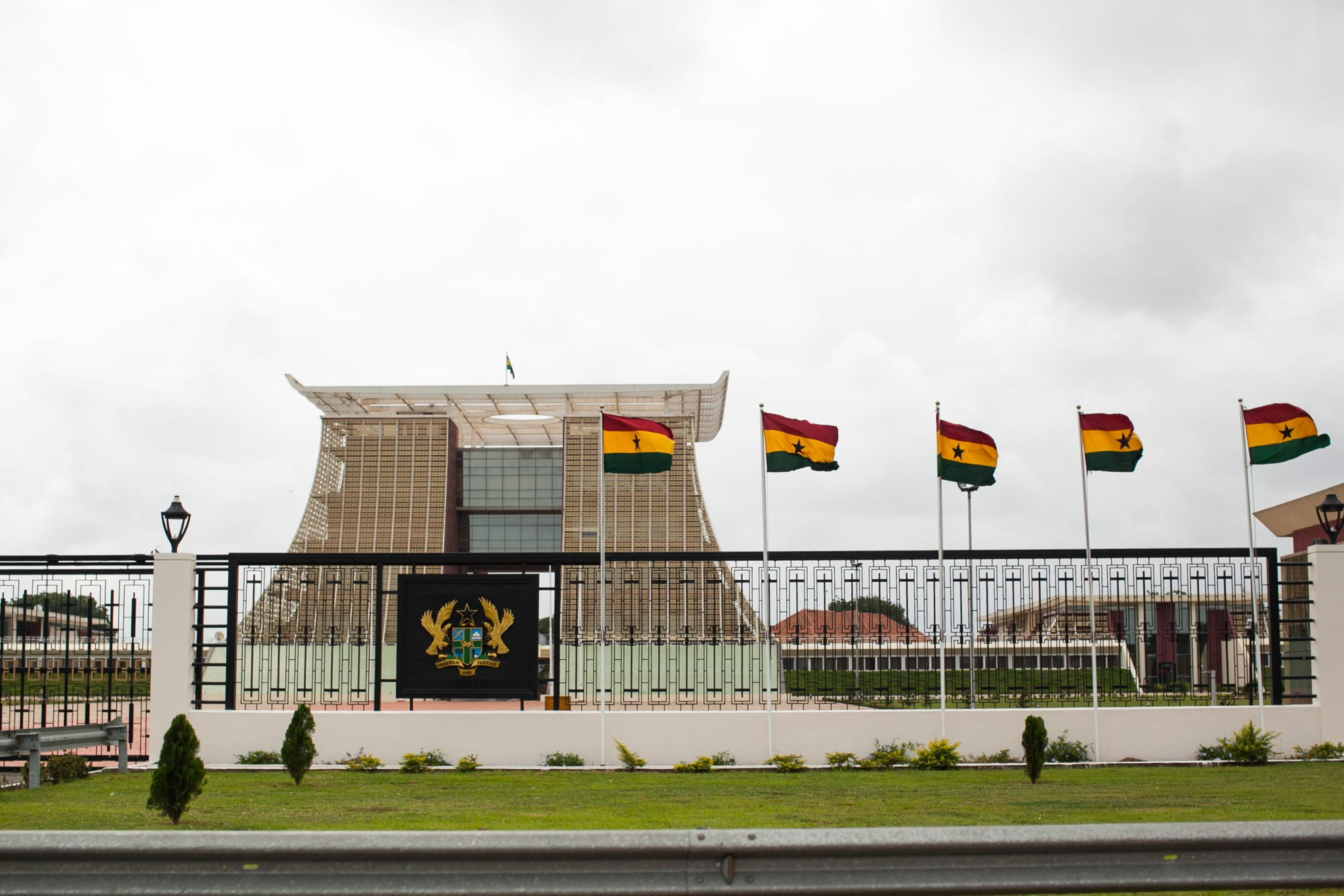 The grounds of the Flagstaff House, the Presidential Palace.