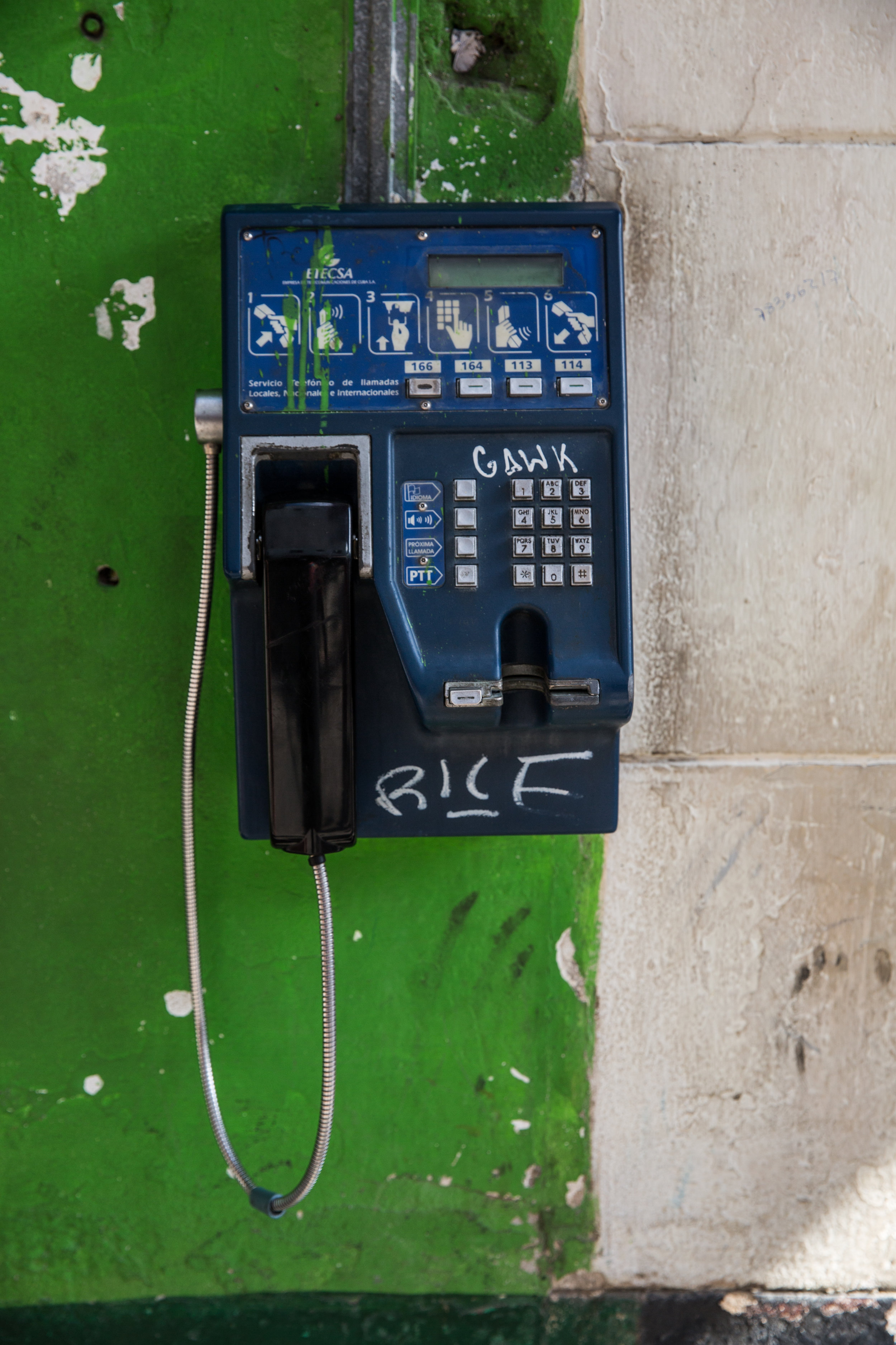 Landlines are abundant in Havana, as cell service is very limited throughout the island.