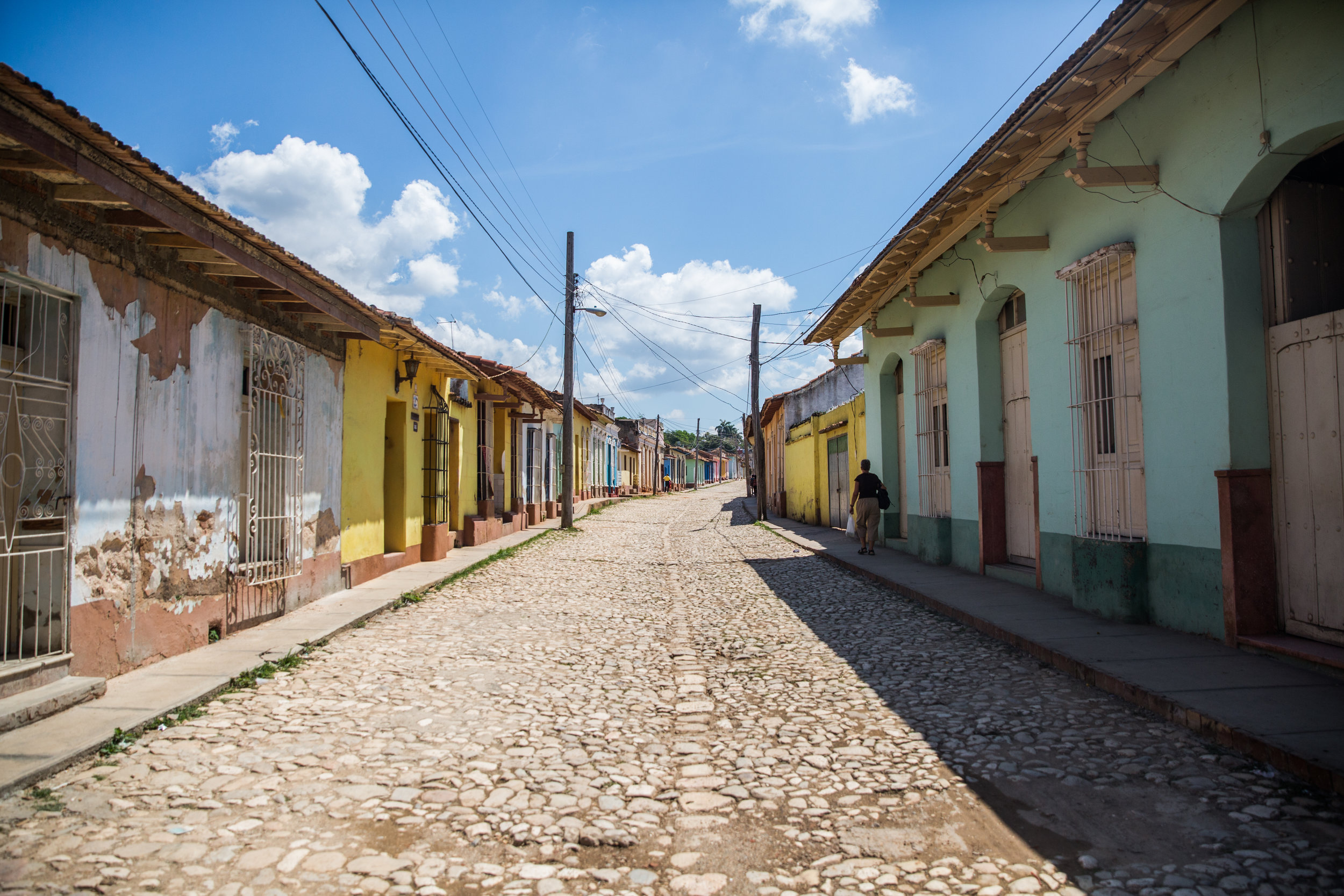 The coblestone streets still remain, couples gorgeously with the washed out pastels that Cuba is known for.