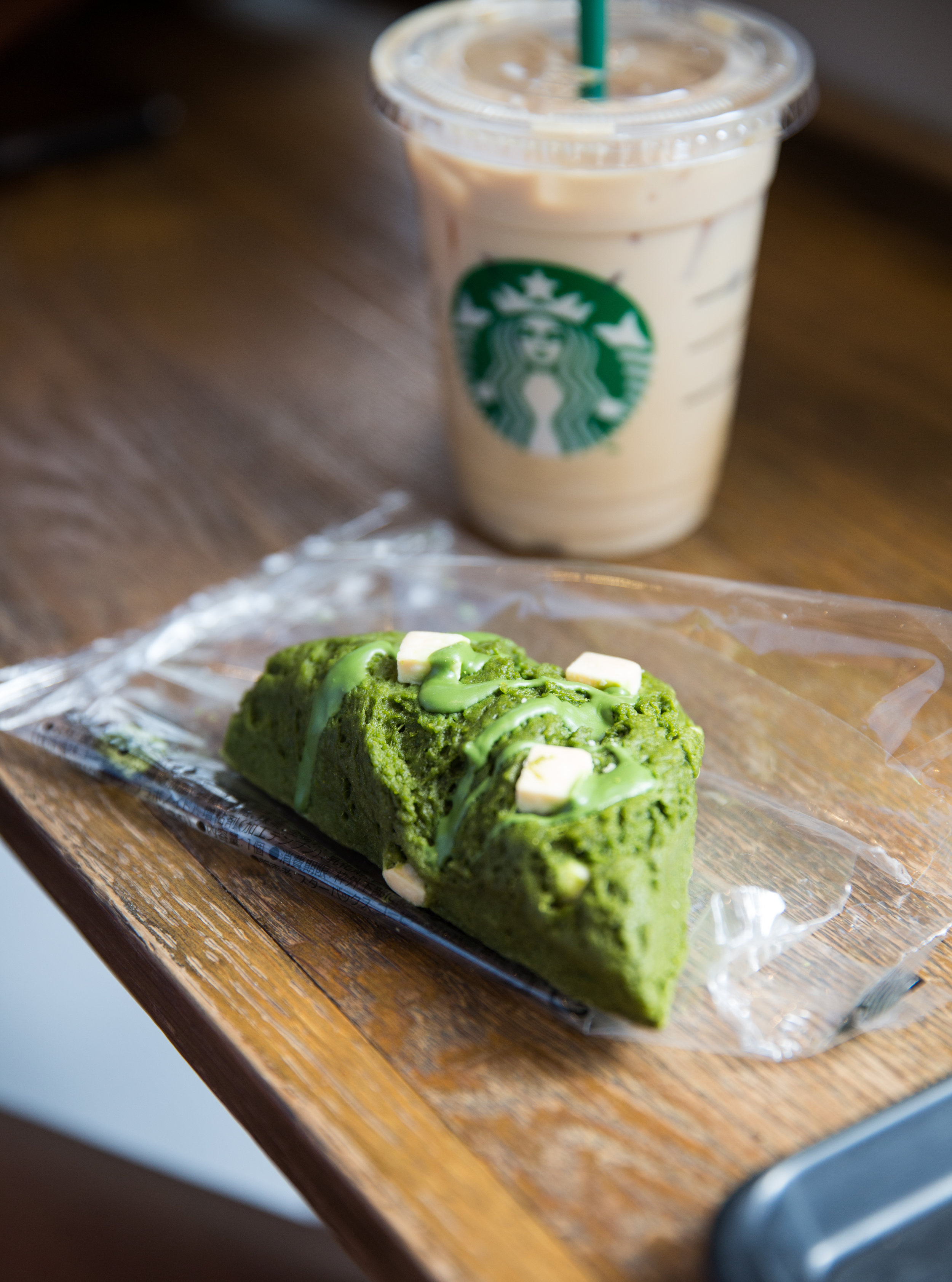 ' Sweet ' by Little Dragon | Starbucks next to Shibuya crossing has an excellent selection of matcha flavored treats with balcony views to match.