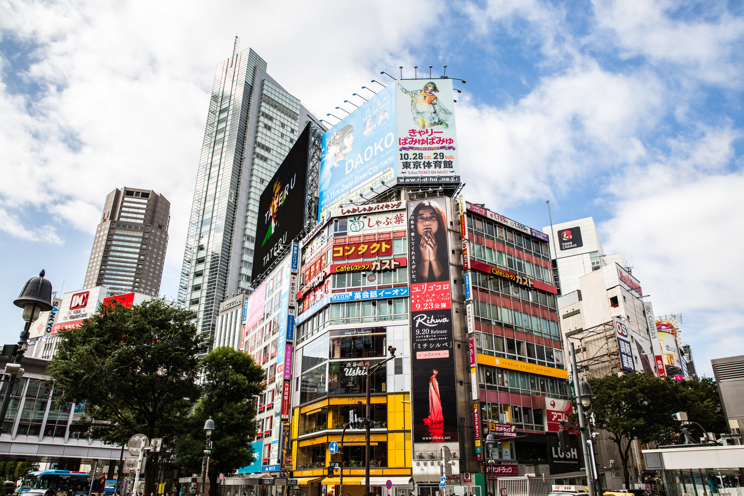 Shibuya Crossing. Stopping wasn't an option.