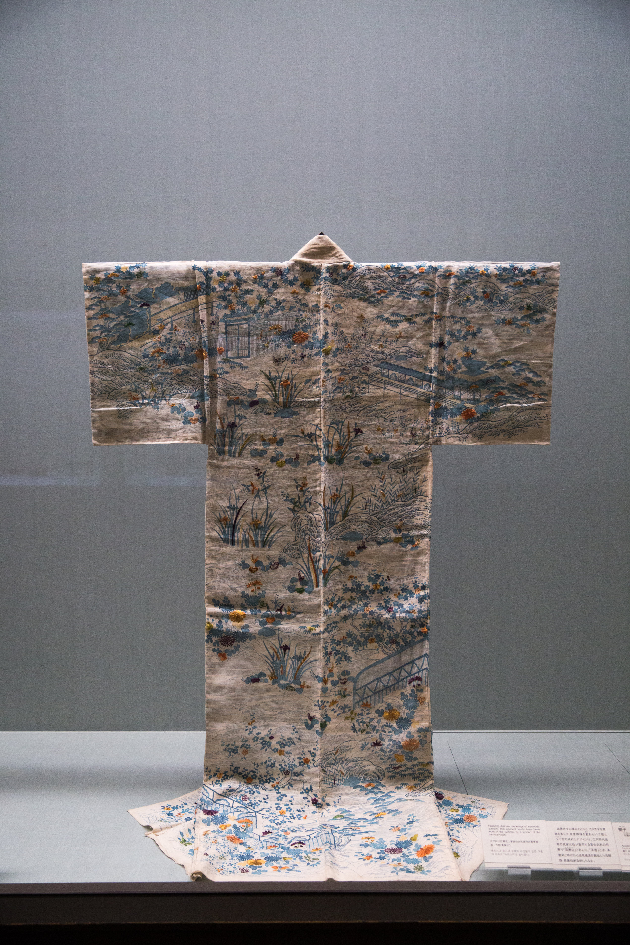 A kimono made for a woman of the samurai class to be worn in the summer.